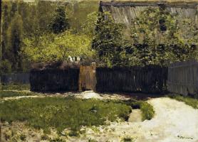 Исаак Ильич Левитан. Первая зелень. Май. Увеличенное повторение этюда 1883 года