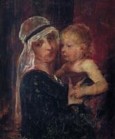 """Михай Либ Мункачи. Женщина с ребенком. Эскиз для картины """"Христос перед Пилатом"""""""