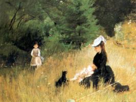 Берта Моризо. Мать с детьми