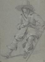 Габриель Метсю. Сидящий кавалер