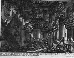 Джованни Баттиста Пиранези. Внутренний вид гробницы на Винья Казали у Порта Сан Себастьяно