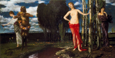 Arnold Böcklin. Ladies