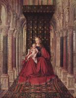 Ян ван Эйк. Мария с младенцем