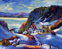 Серж Госслин. Зимний пейзаж