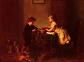 Феликс Шлезингер. Дети играющие с гитарой