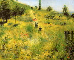 Pierre-Auguste Renoir. Path in the tall grass
