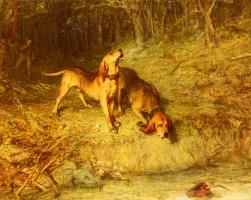 Уильям Куиллер-Орчардсон. Собаки в лесу
