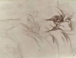 Анри де Тулуз-Лотрек. Спящая женщина