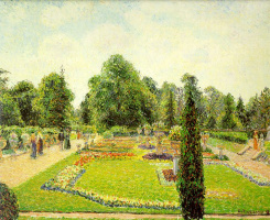 Camille Pissarro. The Kew Gardens. Way to big greenhouse