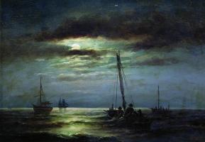 Александр Карлович Беггров. Ночь на реке. 1891