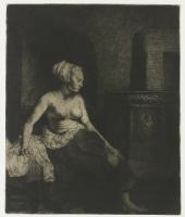 Рембрандт Харменс ван Рейн. Полуобнажённая у печки