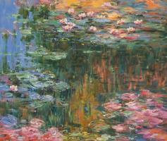 Савелий Камский. Водяные лилии, N22, копия картины Клода Моне
