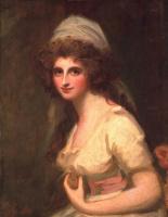 George Romney. Emma Hart, later Lady Hamilton, in a white turban