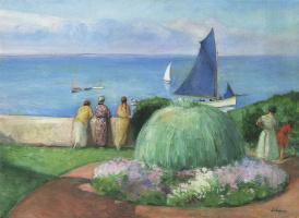 Henri Lebasque. Blue sail on Prepay