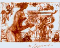 "Vladimir Sergeyevich Lukyanov. From the ""Antique album"" (sheet 21)."