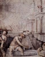 Франческо Сальвиати. Купание Вирсавии. Деталь