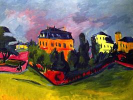 Эрих Хеккель. Вид на Дрезден