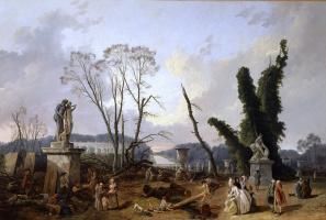 Hubert Robert. The entrance to the gardens of Versailles