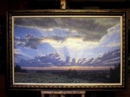 Arkady Paransky. Ozeritsy. Sunrise over the Oka.