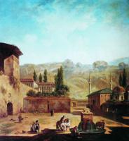 Федор Яковлевич Алексеев. Вид города Бахчисарая. 1798-1800