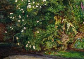 John Everett Millais. Ophelia. A landscape