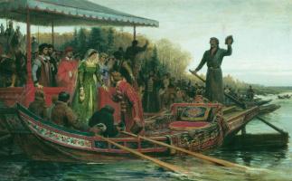 Fedor Andreevich Bronnikov. Meeting the princess. 1883
