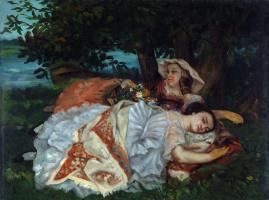 Гюстав Курбе. Молодые дамы на берегу Сены