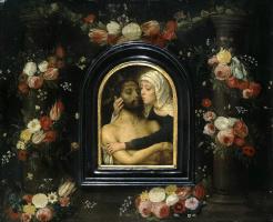 Герард Давид. Мария, обнимающая мертвого Христа