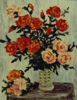 Рита Аркадьевна Бекман. Новогодний праздник длится пышно. Влажны стебли новогодних роз... (А.Ахматова)
