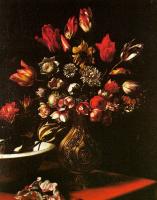 Карло Дольчи. Букет цветов в вазе