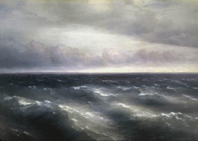 Ivan Aivazovsky. The black sea