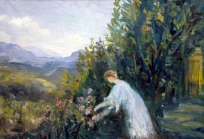 Пьер Лапрад. Дама в саду