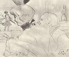 Анри де Тулуз-Лотрек. Пара в кафе