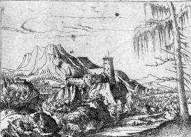 Альбрехт Альтдорфер. Пейзаж с большим замком