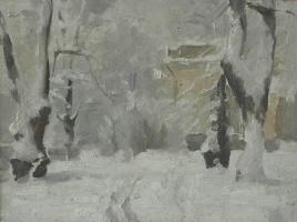 Евгений Иванович Бригадиров. Зима в Михайловском саду