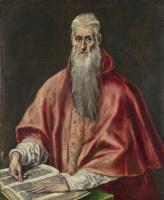Эль Греко (Доменико Теотокопули). Святой Иероним, как кардинал