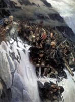 Vasily Ivanovich Surikov. Suvorov crossing the Alps in 1799