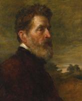 George Frederick Watts. Portrait of major-General Talbot.