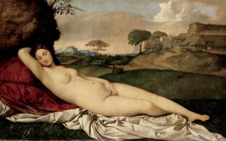 Giorgione. Sleeping venus