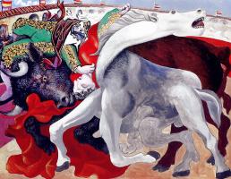 Pablo Picasso. Corrida. Death of a Matador