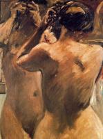Ловис Коринт. Женщина расчесывает волосы