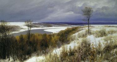 Vasily Dmitrievich Polenov. Early snow
