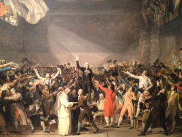 Jacques-Louis David. The oath in the hall for ball games