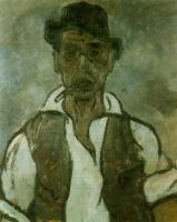 Рафаэль Баррадас. Портрет мужчины в кепке