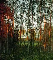 Исаак Ильич Левитан. Последние лучи солнца. Осиновый лес