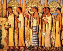 Альфредо Рамос Мартинес. Посвящение Кетцалькоатля