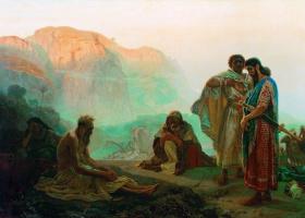 Ilya Efimovich Repin. Job and his friends