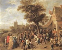 Давид Тенирс Младший. Сельский праздник с участием семьи аристократов