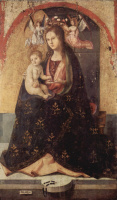 Polyptych of St. Gregory, the Central part the Madonna on a throne
