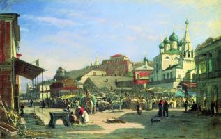 Alexey Petrovich Bogolyubov. Nizhny Novgorod. Lower Bazaar